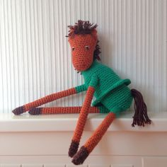 Friends for sale. Knitted toys. Horse.