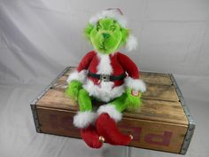 Vintage Dr. Seuss How the Grinch Stole Christmas Animated Singing Motion Figure Plush Motionette 10 inch by WesternKyRustic on Etsy