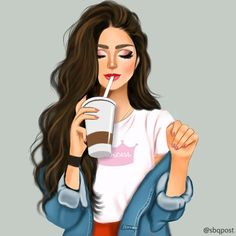 Shared by Find images and videos about cute, art and girly on We Heart It - the app to get lost in what you love. Beautiful Girl Drawing, Cute Girl Drawing, Cartoon Girl Drawing, Girl Drawing Sketches, Girly Drawings, Girl Sketch, Sketch Art, Pop Art Girl, Black Girl Art