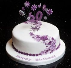 60th Birthday Cake Decorating Ideas