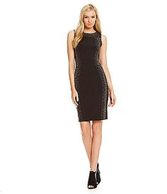 Calvin Klein Studded Sheath Dress #Dillards