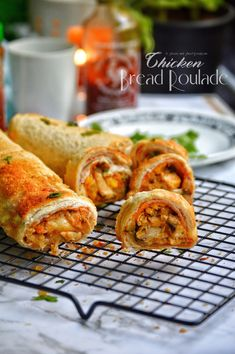 Chicken Bread Roulade Making White Sauce, Cheese Cubes, Kids Menu, Ramadan Recipes, Garlic Sauce, Marinated Chicken, Dinner Is Served, Savory Snacks, Iftar