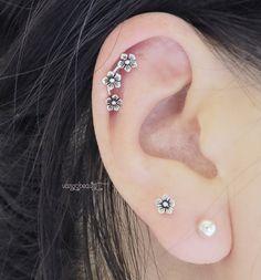 Magnifique boucle d'oreille argent Sterling pur par vangodesigns