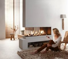 #wohnzimmer Den Sitzbereich Vor Dem Kamin Im Wohnbereich Gemütlich  Einrichten #Den #Sitzbereich #