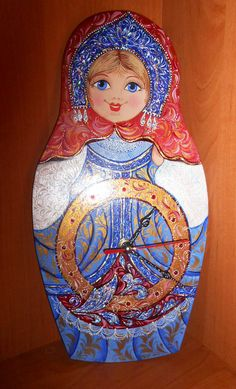 Matryoshka Wall Clocks with a surprise nesting by Artworkshop1, $59.00