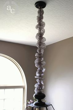 Make A Sleeve To Dress Up Your Chandelier Chain