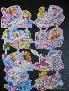 Bebés con brillantina Scrapbook Images, Vintage Scrapbook, Vintage Baby Pictures, Cute Pictures, Vintage Cards, Vintage Paper, Paper Scraps, Pocket Letters, Retro Toys