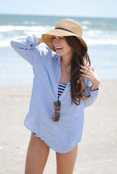 Love this for a beach cover up or to wear with white skinny jeans
