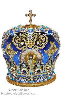 blazhko_oleg: Goldwork. orthodox mitre (bishop`s crown)