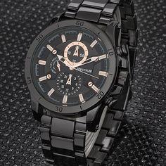 Spectrum Siyah Altın Yaldız Gösterge Erkek Kol Saati   buldumbuldum.com ile hediye et