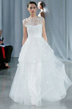 Illusion wedding dress from Monique Lhuillier, Fall 2013
