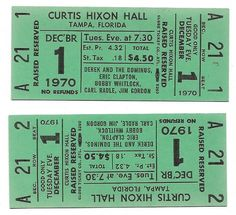Derek & The Dominos Concert Ticket Second Live, Number Sequence, Piece Of Music, Concert Tickets, Better One, Eric Clapton, The Fool, Stock Photos, Amp