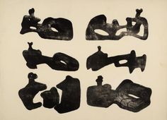 Artwork page for 'Six Reclining Figures in Black', Henry Moore OM, CH, 1963 Abstract Sculpture, Wood Sculpture, Metal Sculptures, Bronze Sculpture, Abstract Art, Henry Moore Drawings, Henry Moore Sculptures, Sculpture Lessons, Thing 1