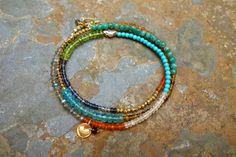 Rhythm of Love Necklace/Bracelet by SandyShumanJewelry on Etsy Carnelian, Labradorite, Love Necklace, Smoky Quartz, Heart Charm, Peridot, Rose Quartz, Beaded Bracelets, Turquoise