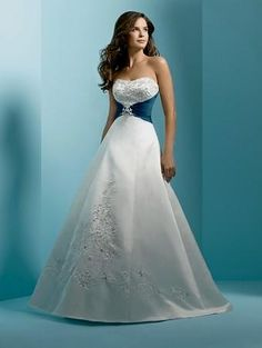 Wedding Dresses With Colored Accents - wedding dresses with ...