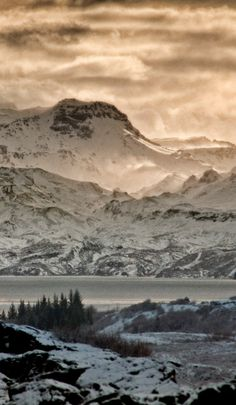 Iceland - Thingvellir National Park - Winter in the mountains