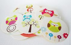 Cute #Owl Label #Stickers #Handmade by @adorebynat