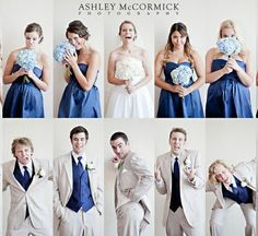 personality shots of wedding party