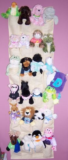 Another stuffed animal idea. Yes, our stuffed animals breed and there is no place to put them all.