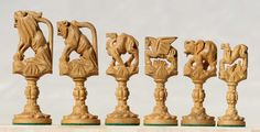 Chess sets from The Chess Piece chess set store: Animals Theme ...