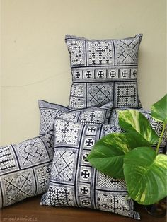 Unique 5 pillows case, Vintage ethnic Hmong textile. I got beautiful old piece of Hmong skirt  and I design pillow case and list it on ETSY (28 November 2012). unique and cannot order !   Please Visit: http://www.etsy.com/shop/orientaltribe11