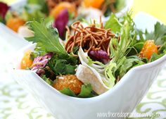 The Red Apron: Chinois Chicken Salad with Mandarin Oranges in Sesame Miso Ginger Vinaigrette