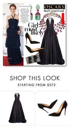 """""""#Red Carpet - Style Inspiration for Natalie Portman"""" by nikkisg ❤ liked on Polyvore featuring Farah Khan, Chopard, Sophie Theallet, Christian Louboutin, Natasha, RedCarpet and natalieportman"""