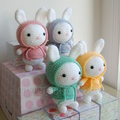 Really Cute Bunny Amigurumi  ~ Crochet Pattern.  via Etsy.