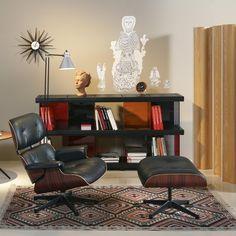 Attraktiv Eckenfüller   Eames Lounge Chair Mit Ottoman   Bücherregal Sessel,  Wohnzimmer, Wohnen, Neue