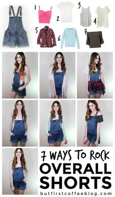 How to Wear Overall Shorts | 7 Ways to Style Jean Overalls