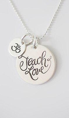 FIVE by Littlefield Lane Sterling Silver Teach Love Charm