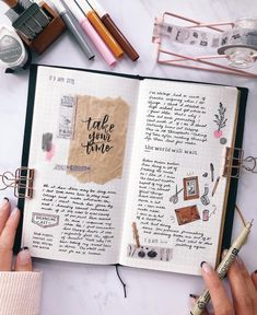 Take your time, the world will wait 🌎💕 I admit, I'm the first one to go out in a sprint and then lose steam before the race is halfway… Bullet Journal Travel, Bullet Journal Banner, Bullet Journal Writing, Bullet Journal Aesthetic, Bullet Journal Ideas Pages, Bullet Journal Inspiration, Bullet Journals, Scrapbook Journal, Journal Layout