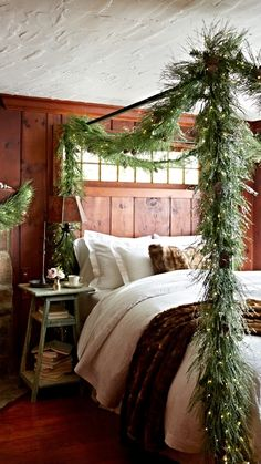 with delicate rounded ice crystals sprinkled over long needle pine our exclusive icy pine cabin christmas decorcozy