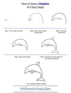 Commentaire dessiner non dauphin Étape par étape 3010 commentaire dessiner