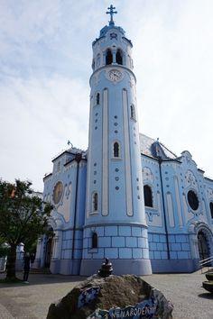Church of St. Elisabeth - The Blue Church   Bratislava, Slovakia