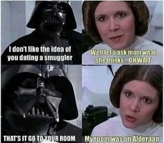 Darth Vader, Leia, humor
