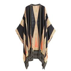 Native Loose Diamond Kimono    Fabric Type: Broadcloth  Material: Rayon  Collar: V-Neck  Sleeve Style: Regular  Sleeve Size: Long Sleeve    $35