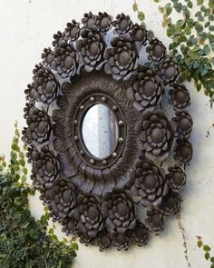 Outdoor Spanish Floral Mirror at Horchow.