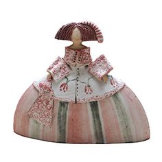 imagen300 Ceramic Pottery, Ceramic Art, Ceramic Figures, Clay Dolls, Paper Clay, Decorative Bells, Gifts, Beautiful, Templates