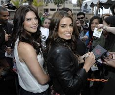 'The Twilight Saga: Breaking Dawn' Comic-Con Red Carpet Ashley Greene (Alice Cullen) and Nikki Reed (Rosalie Hale) greeting fans