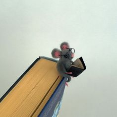 felt mouse bookmark