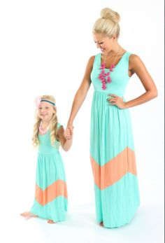 Mommy and Me Chevron Dresses. Well looks like it'll be Nanny and Me for my niece and I :)