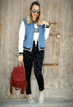 Look by @meninita_xana with #bershka #primark #casual #zara #pants #streetstyle #oxfords #tshirt #jackets #croptops #bags #derbies #ootd #looks #trend.