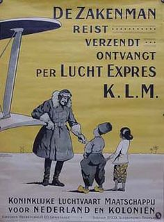 KLM -The businessman travels, send and recieves by Air express