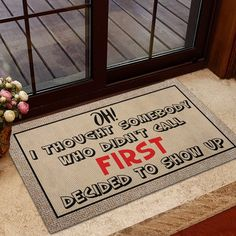 Did You Call First Doormat Funny Doormat Call First Door | Etsy Front Door Mats, Funny Doormats, You Call, Welcome Mats, House Warming, Plush, Handmade Gifts, Color, Etsy