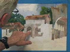 California Mission Watercolor Demo Part 3 of 5 - YouTube