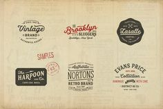 Hanley Font Collection  by DISTRICT 62 studio on @creativemarket #logo #inspiration