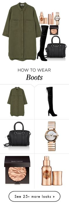 """""""Untitled #1636"""" by mihai-theodora on Polyvore featuring MANGO, Givenchy, Stuart Weitzman, Gucci, Benefit and Laura Mercier"""