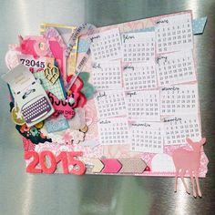 Arts&Photoscrap: Tutorial Calendario 2015 imantado