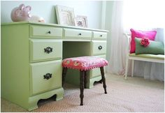Centsational Girl » Blog Archive » DIY: Painted Thrift Store Desk